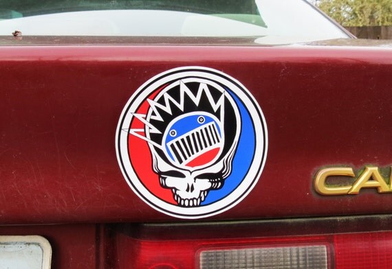 Steal Your Face Boognish Grateful Dead Ween Red, White and Blue Series 3 High Quality Vinyl Sticker