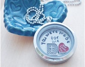 You Were Made for Me - Faith Necklace - Floating Charm Memory Locket - Bible Jewelry - Cross Necklace - God Loves You