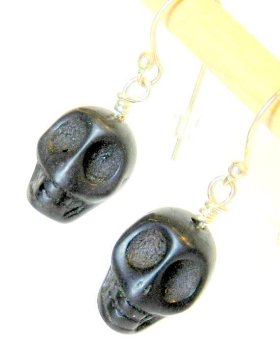 black skull drop earrings skull jewelry jewelry