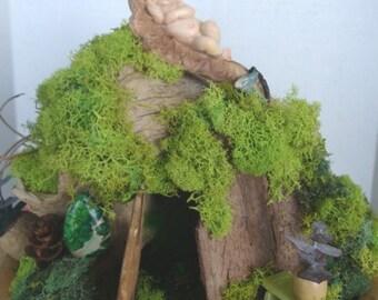 Enchanting ....Natural Woodsie Fairy House......Fantasy....OOAK