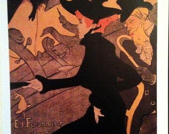 """Toulouse-Lautrec Fine Art Poster Print, """"Divan Japonais"""" 1892-93"""