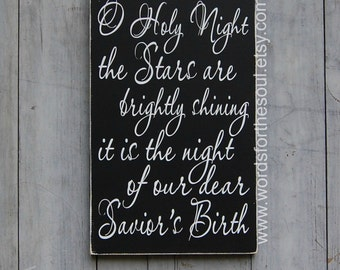 O Holy Night - Oh Holy Night - Christmas Decor - Christian Wall Art - Christian Decor - Rustic Christmas Decor - Rustic Home Decor