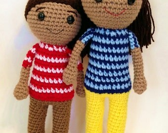 PDF PATTERN: Caleb and Sophia Doll - 2 Pack **Crochet Patterns only! Not Actual Dolls!!!**