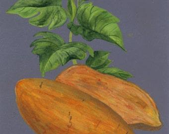 "Kitchen Decor - Vegetable Art - ""Sweet Potatoes"" - Painting by Lorraine Skala"