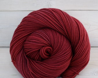 Calypso - Hand Dyed Superwash Merino Wool DK Light Worsted Yarn - Colorway: Cranberry