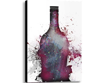 """Large Canvas abstract art giclee print """"Broken Vessel"""" 32"""" x 48"""" modern contemporary room decor, fully stretched canvas wall art"""