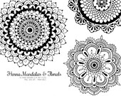 Mandalas & Floral Henna Wedding Clip Art