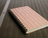 """Spiral Bound Notebook Tartuensis College """"White Stripes"""" from discarded book covers"""
