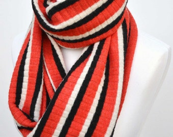 Cowl scarf, gift for her, infinity scarf, girlfriend gift, womens scarves, gift for women, snood, orange scarf