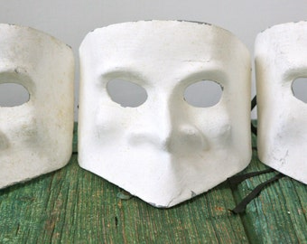 Charming papier maché masks