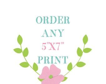 Any 5 X 7  Nursery Print from Little Monde Store, Nursery Wall Decor, Baby Girl Nursery Prints, Baby Boy Nursery Print