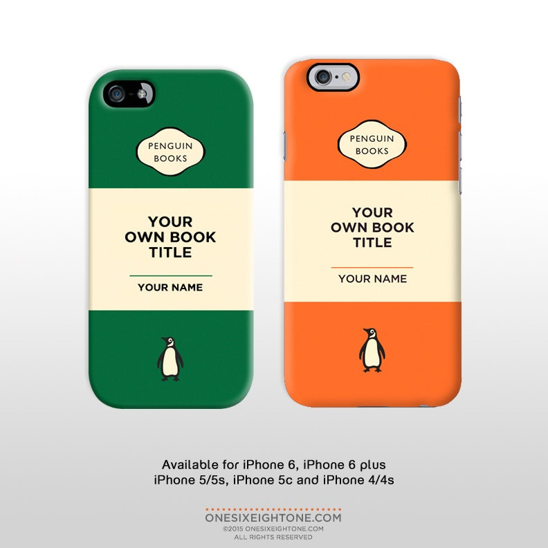 Penguin Book Cover Iphone Case : Iphone penguin book cover s c by onesixeightone