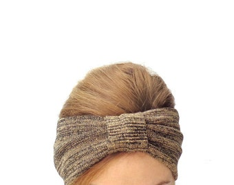 golden lurex turban headband headwrap fashion headwear headdress
