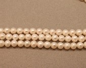 White Freshwater Pearls, Near Round Pearls 7-9mm--set of 10