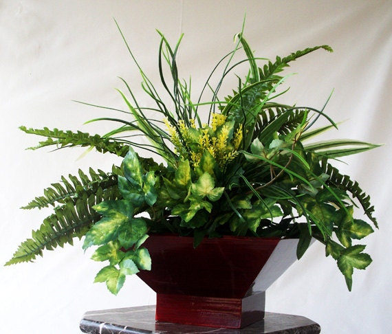 Silk plant artificial faux greenery arrangements centerpieces