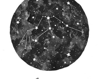 Aquarius Constellation Illustration - Vertical
