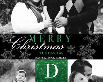 Custom Photo Bokeh Christmas Card