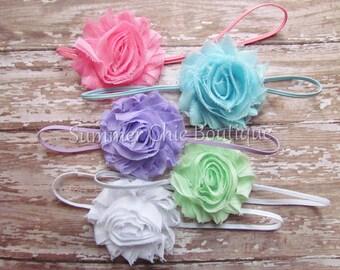 Set of 5 Baby Headbands, Baby Headband, Infant Headband, Toddler Headband, Baby Gift Set,  Shabby Chic Baby Headbands Set,