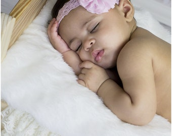 Light Pink Baby Headband, Infant Headband, Newborn Headband, Toddler Headband, Girls Headband, Pink Headband, Easter Headband