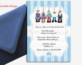 Calling All Royals- A Prince Birthday Invitation- Design Fee