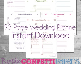 Free Printable Wedding Planner Book