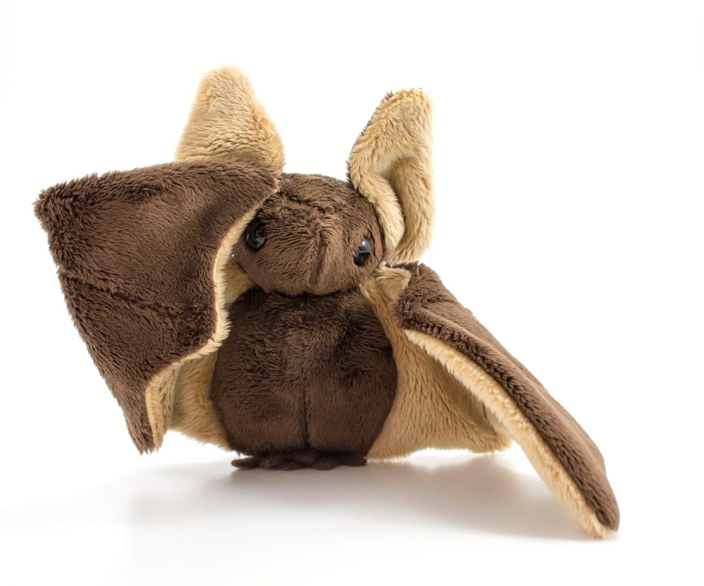 Plush Stuffed Animal Toys : Brown bat stuffed animal plush toy
