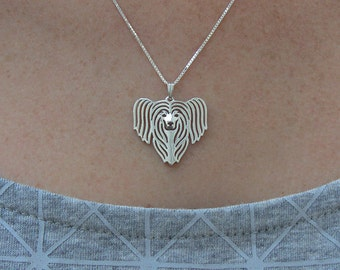 Chinese Crested - sterling silver pendant and necklace