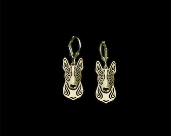 Bull Terrier earrings - Gold
