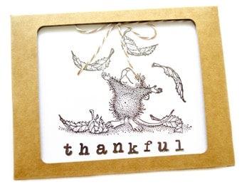 Thankful House Mouse Card Set