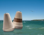 Mooring Buoy Salt & Pepper Shakers in Hard Maple and Black Walnut