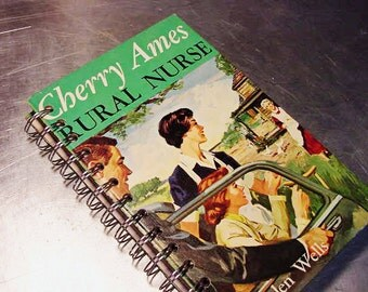 CHERRY AMES Journal Notebook Rural NURSE Diary Altered Book Vintage