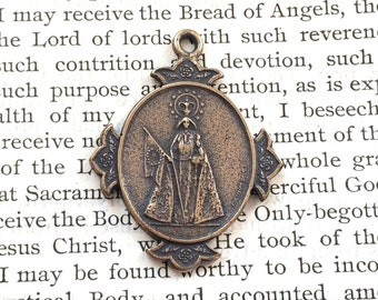 Mary Medal - Catholic Medal - Bronze or Sterling Silver - Religious Medal - Vintage Medal Replica (M-1006)