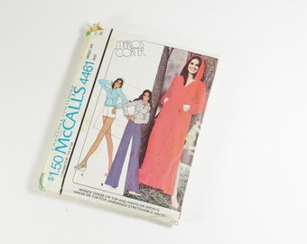 McCalls 4461 - Vintage 1975  Misses Dress or Top and Pants or Shorts for Knits Marlo's Corner Pattern in Size 14
