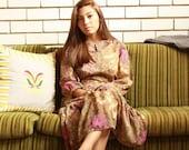 SALE WAS 40 - Vintage 70s Floral Hippie Dress