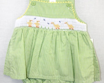 Sun Dress - Baby Sundress - Baby Girl Clothes - Baby Sun Dress - Spring Dress - Girls Ruffled Dress - Easter Dress 412287-I136