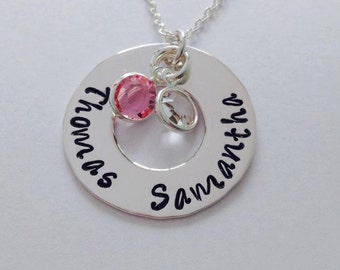 Mothers necklace Grandmothers necklace personalized necklace