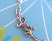 Lizard Clip On Charm or Zipper Pull (Also Lanyard, Dust Plug, or Keyring!) - Bag Charm, Planner Charms, Vape Pen Charm, Phone Charms
