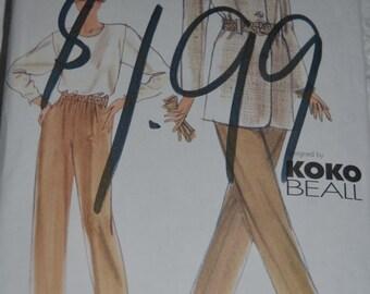 "Vogue 9898  ""Koko Beall"" Misses Jacket Top and Pants Sewing Pattern - UNCUT Size 12 14 16"