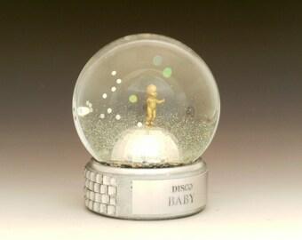 Disco Baby Shimmering snow globe