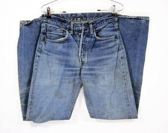 """Vintage Levi's 501 """"Big E"""" Denim Pants W28 1960's"""