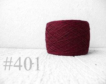Linen yarn - Marsala 2015 year trend color #401