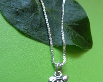 Sterling Silver Small Turtle Necklace