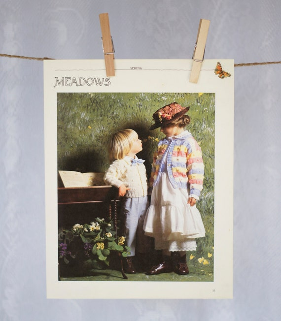 Vintage wall decor 39 meadows 39 1980s children nursery Vintage childrens room decor