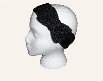 Bow Headband CROCHET PATTERN Hair Bow Headband Crochet Headbands for Adults Crochet Headband Pattern Crochet Earwarmer Crochet Ear Warmer