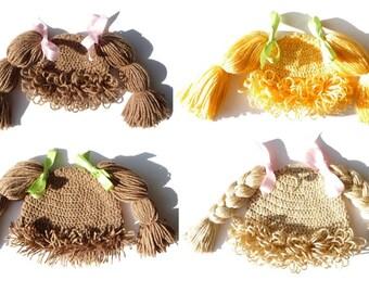 Child Hat Cabbage Patch Hat CROCHET PATTERN Crochet Hat Girl Halloween Costume Photo Prop Children Hats Kids Wig Cabbage Patch Kid Hat Wig