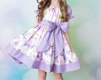 Girls Easter Dress - Spring Dress - Spring Floral Dress - Birthday Dress - Flower Girl dress - Pageant Dress