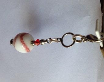 Baseball Zipper Pull