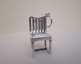 Vintage Short Chair Charm MMA GSA 925 Sterling Silver