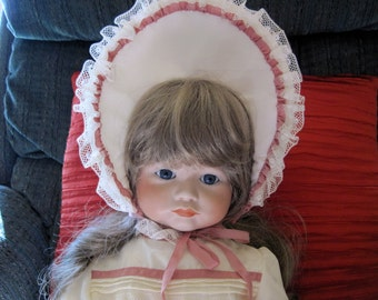 Antique Reproduction Porcelain Doll SFBJ 252 Paris Pouty Sweet Face beautiful eyes