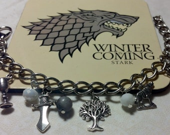 """Game of Thrones """"Winter Is Coming"""" House Stark of Westeros Bracelet"""